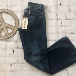 LUCKY BRAND Sweet n Low patch distressed jeans